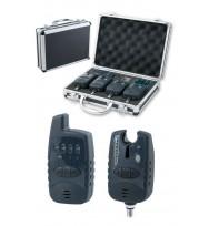 Набор сигнализатор поклевки 4 шт. + рация в кейс-люкс FA 209
