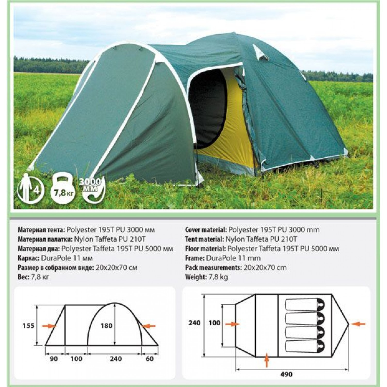 Палатка COMFORTIKA Trial 4 Plus