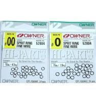 Заводные кольца OWNER 52804 SPLIT RING FINE WIRE