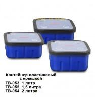 Контейнер пластиковый с крышкой 1.5л. ВОЛЖАНКА Volzhanka Pro Sport