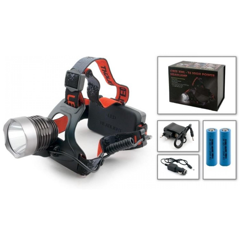Покупка Фонарь налобный LED XML 650 - 2 аккумулятора в комплекте в Минске Беларуси