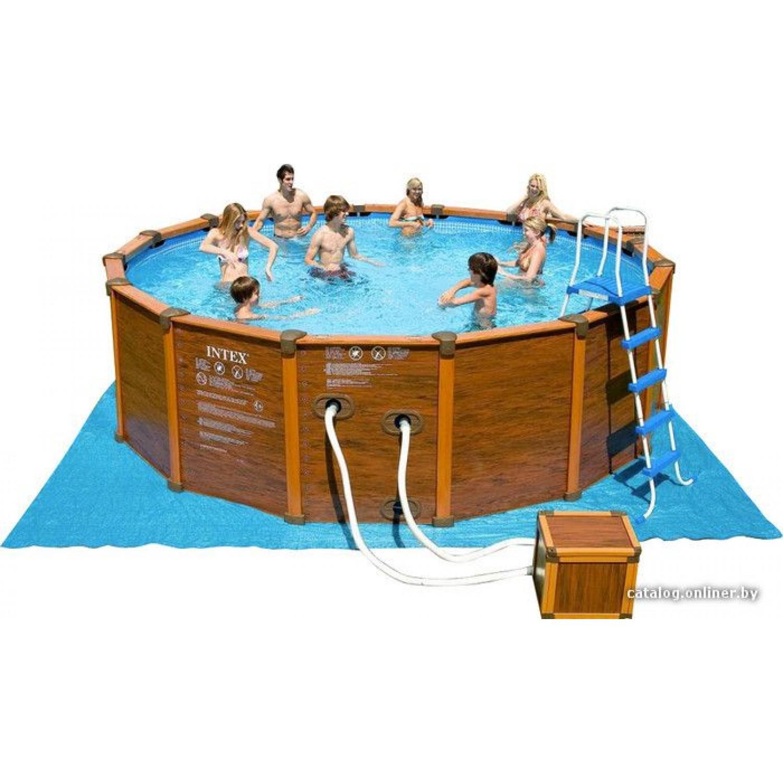 Покупка Каркасный бассейн INTEX Sequoia Spirit Wood-Grain Frame 478x124 (54928/28382) в Минске Беларуси