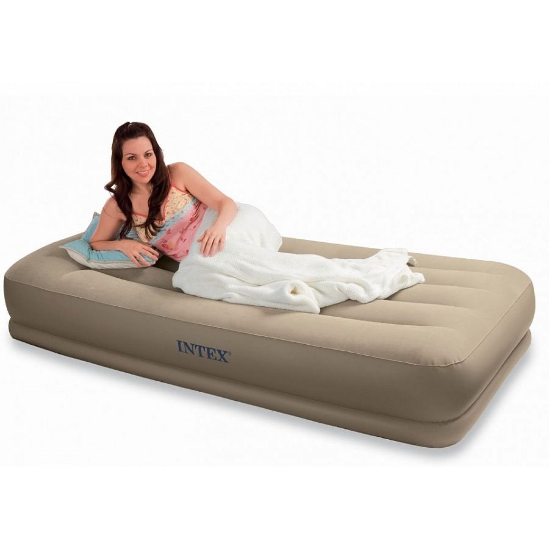 Покупка Надувная кровать INTEX 67742 Pillow Rest Mid-Rise 99x191x38 см в Минске Беларуси