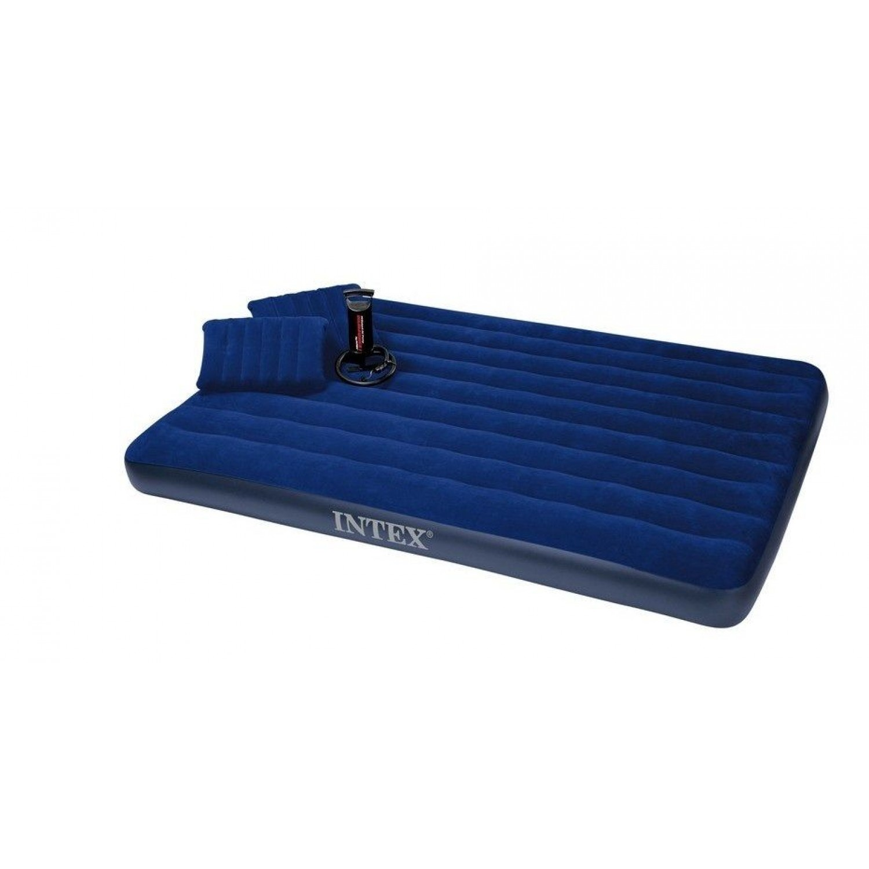 Покупка Матрас надувной INTEX 68765 King Downy Royal Blue 203х152х22 в Минске Беларуси
