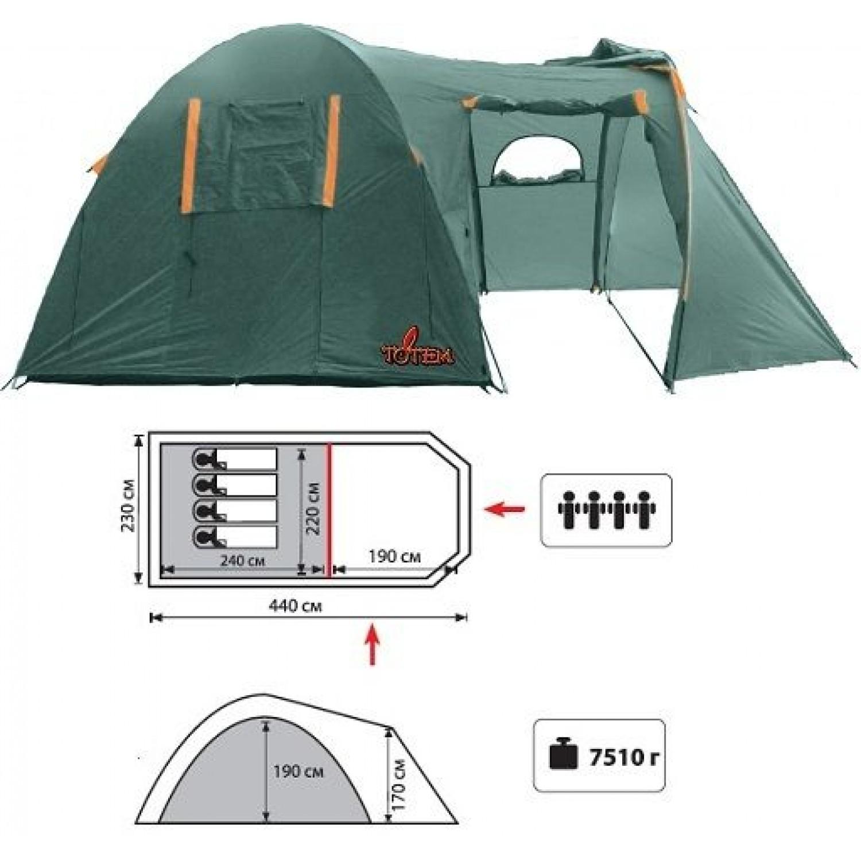 Покупка Палатка TOTEM Catawba 4 V2 в Минске Беларуси