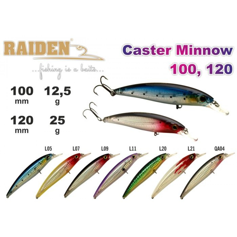 Покупка Воблер RAIDEN Caster Minnow 120 в Минске Беларуси