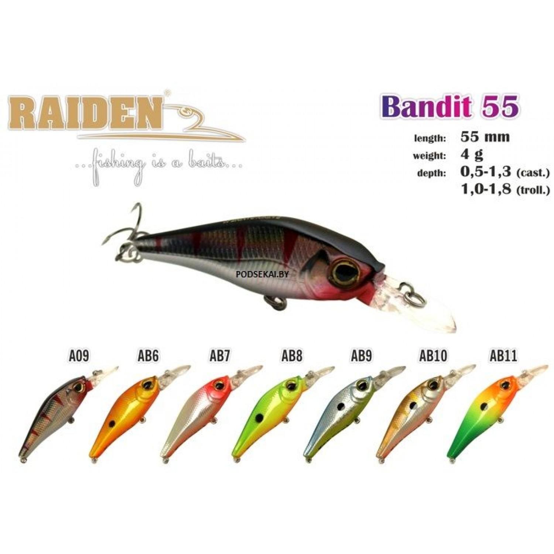 Покупка Воблер RAIDEN Bandit 55 в Минске Беларуси