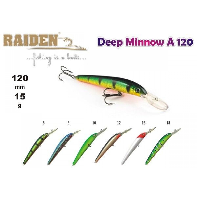 Покупка Воблер RAIDEN Deep Minnow A 120 в Минске Беларуси