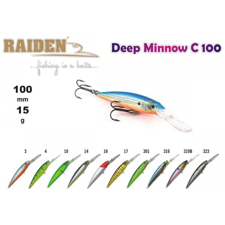 Покупка Воблер RAIDEN Deep Minnow C 100 в Минске Беларуси