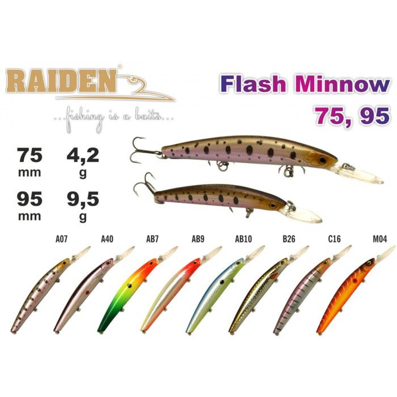 Покупка Воблер RAIDEN Flash Minnow 75 в Минске Беларуси