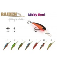 Воблер RAIDEN Middy Shad 60