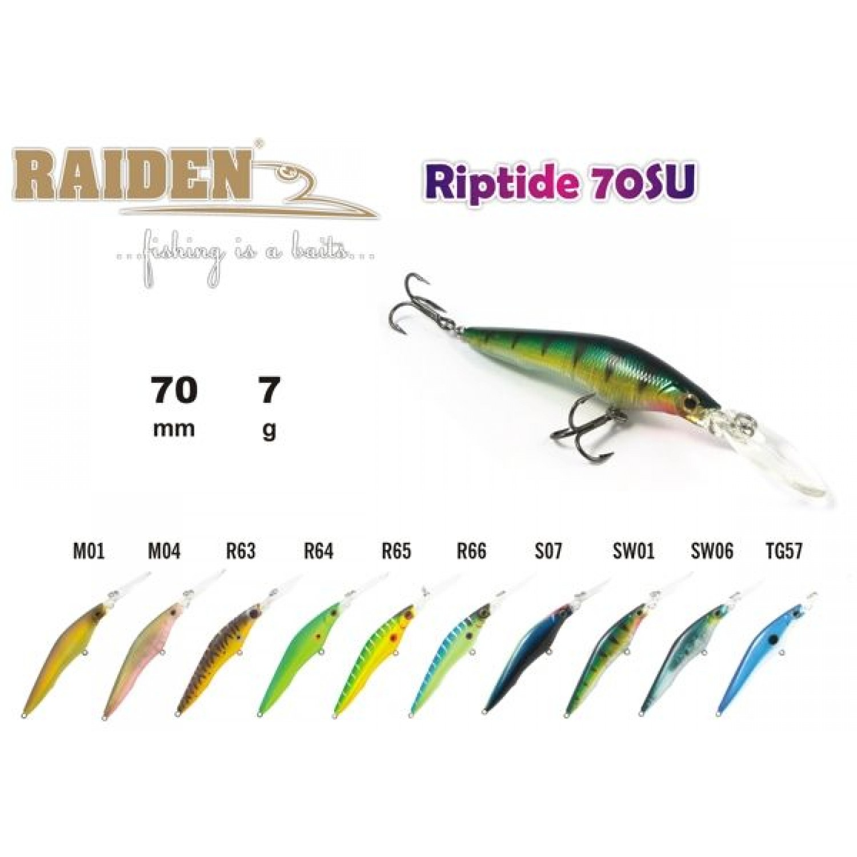 Покупка Воблер RAIDEN Riptide 70 SU в Минске Беларуси