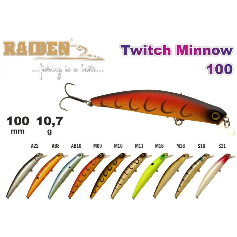 Покупка Воблер RAIDEN Twitch Minnow 100 в Минске Беларуси