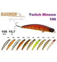 Воблер RAIDEN Twitch Minnow 100